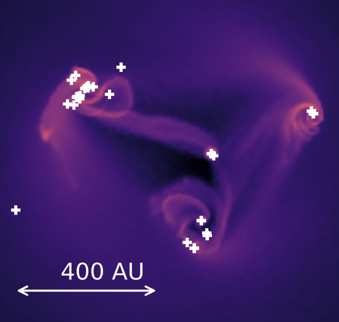 Fragmentation of the accretion disk in Population III star formation.